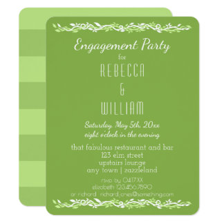 Rustic Greenery   Wedding Vine Engagement Party Card