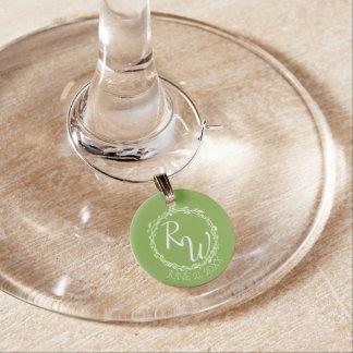Rustic Greenery   Wedding Vine Foliage Favours Wine Glass Charms