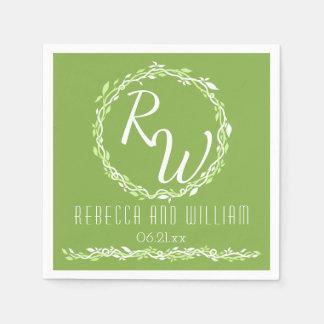Rustic Greenery   Wedding Vine Simple Classic Disposable Napkins
