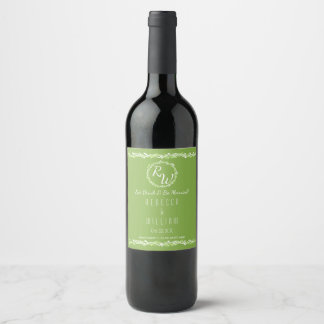 Rustic Greenery | Wedding Vine Your Personalized Wine Label