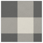Rustic Grey and Beige Buffalo Plaid Fabric