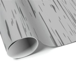 Rustic Grey Wood Grain Wrapping Paper