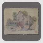 Rustic Gristmill Square Sticker