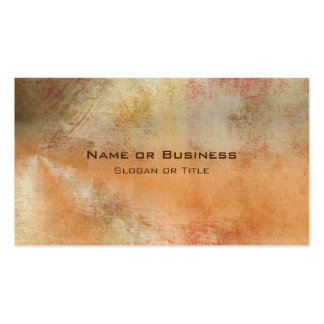 Rustic Grunge Abstract Design in Fall Colors Business Card