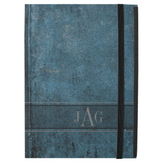 "Rustic Grunge Blue Book Design iPad Pro 12.9"" Case"