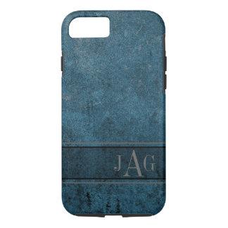 Rustic Grunge Blue Book Design iPhone 8/7 Case