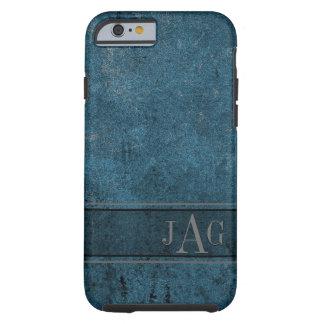 Rustic Grunge Blue Book Design Tough iPhone 6 Case