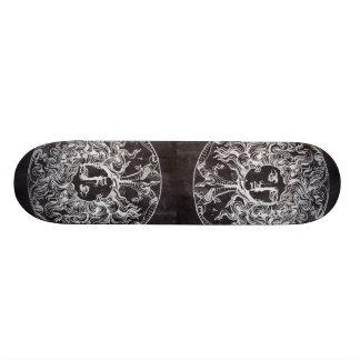 rustic grunge chalkboard art vintage medusa skateboards