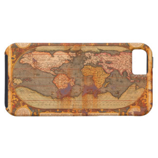 Rustic Grunge Old Style World Map iPhone 5 Case