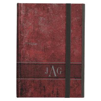 Rustic Grunge Red Book Design iPad Air Case