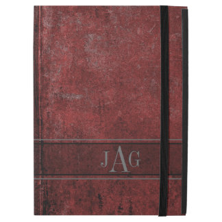 "Rustic Grunge Red Book Design iPad Pro 12.9"" Case"