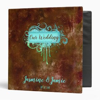 Rustic Grunge Wedding Photo Album Binder