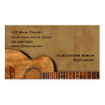 Rustic Guitar Double-Sided Standard Business Cards (Pack Of 100)