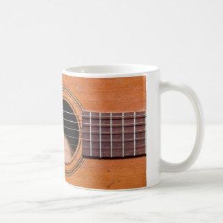 Rustic guitar coffee mug