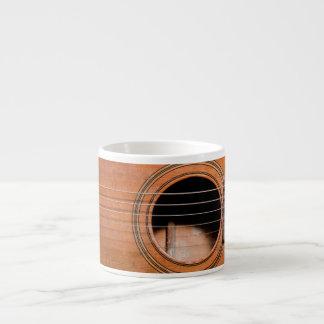 Rustic guitar espresso cup