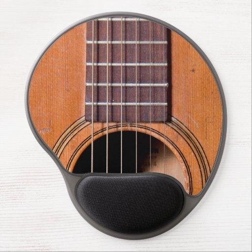 Rustic guitar gel mouse mat