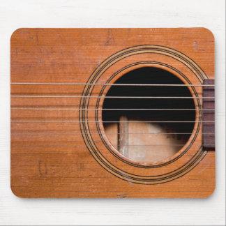 Rustic guitar mouse pad