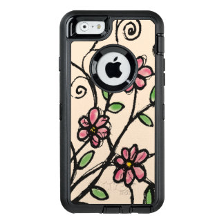 Rustic Hand Drawn Floral Pattern Girly OtterBox iPhone 6/6s Case