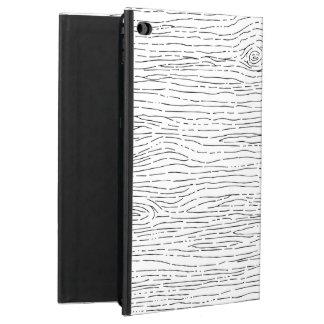Rustic Hand Drawn Wood Grain Pattern iPad Case
