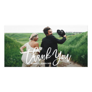 Rustic Hand Lettering Wedding Thank You Card