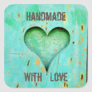 Rustic handmade with love stickers