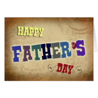 Rustic Happy Father's Day Greeting Note Card