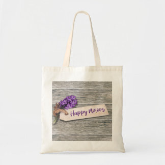 Rustic Happy Norooz Hyacinth - Budget Tote