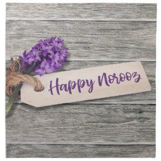 Rustic Happy Norooz Hyacinth - Cloth Napkin