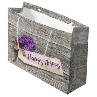 Rustic Happy Norooz Hyacinth - Large Gift Bag