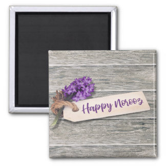Rustic Happy Norooz Hyacinth - Magnet