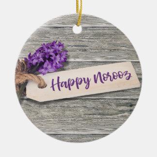 Rustic Happy Norooz Hyacinth - Ornament
