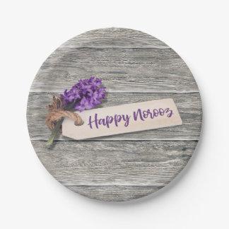 Rustic Happy Norooz Hyacinth - Paper Plate