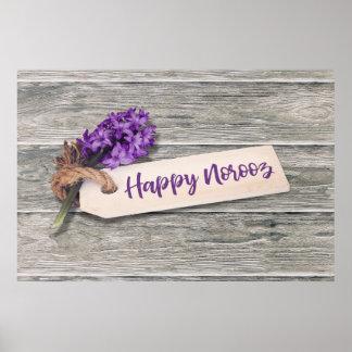 Rustic Happy Norooz Hyacinth - Poster