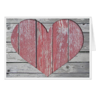 Rustic Heart Note Card
