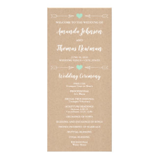 Rustic Hearts and Arrows | Wedding Program