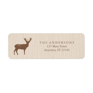 Rustic Holiday Address Labels