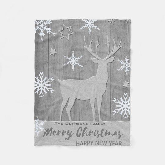 Rustic Holiday Fleece Blanket