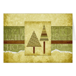Rustic Holiday Note Card