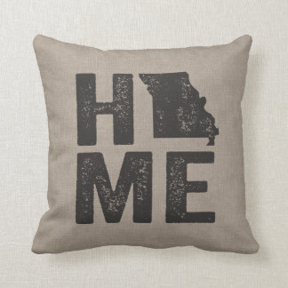 Rustic Home - Missouri State Throw Pillow