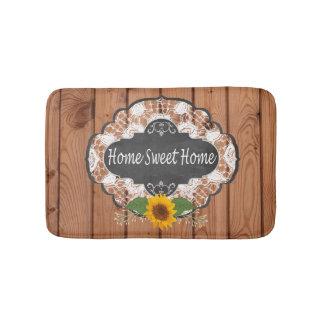Rustic Home Sayings Design Bath Mat