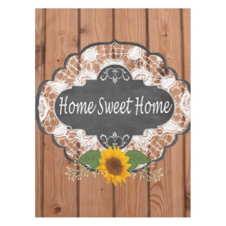 Rustic Home Sayings Design Tablecloth