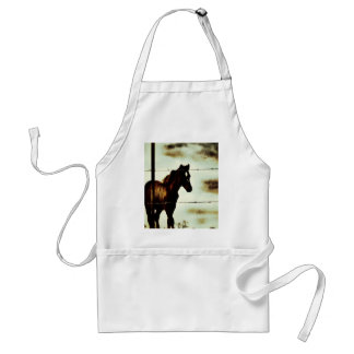 Rustic Horse Colt Foal and Barbed Wire Standard Apron