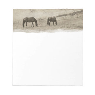 Rustic Horse Farm Notepad