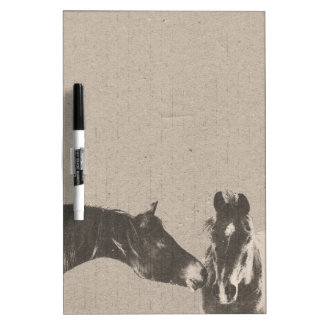 Rustic Horse Heads Dry Erase Whiteboards