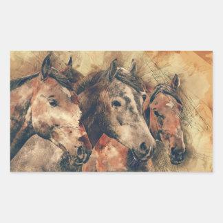 Rustic Horses Trio