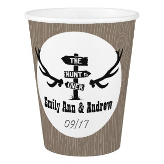 Rustic Hunt is Over Barnwood Paper Cup