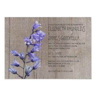 Rustic Hyacinth Wedding Invitations