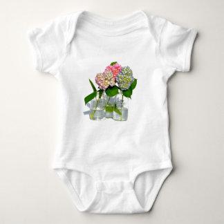 Rustic hydrangeas baby bodysuit