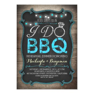 "rustic I do BBQ rehearsal dinner invitation 5"" X 7"" Invitation Card"