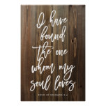 Rustic I have Found the One Whom My Soul Loves Poster